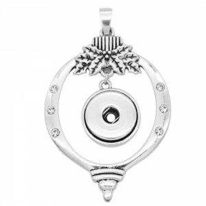 Large Christmas Ornament Snap Jewelry Pendant